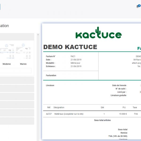 Kactuce : Facture demo