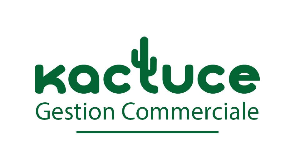 Kactuce : logo fonds blanc